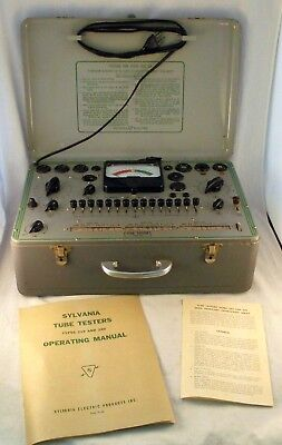 Vintage Sylvania Electric Type 220 Tube Tester USA With Manual Tested