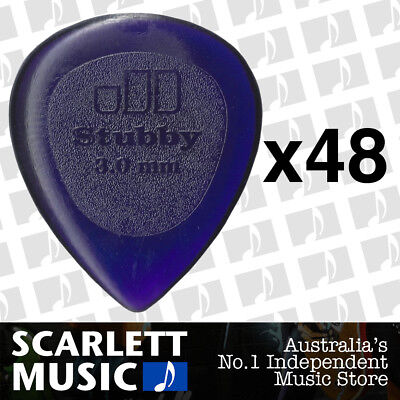 48 x Jim Dunlop Jazz Stubby 3.00MM Gauge Guitar Picks *NEW* Plectrums, Purple