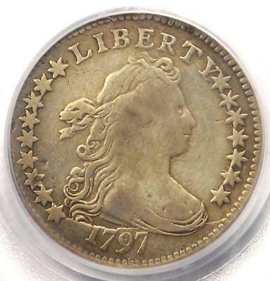 1797 Draped Bust Dime 16 Stars 10C Coin - PCGS Genuine - VF Details!