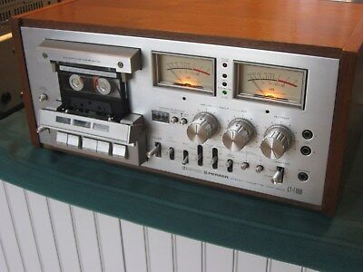 Pioneer CT-F1000 Cassette Deck, Very NM,Svcd.,Wood Cab,Org O.M, 3pc Copied Lit