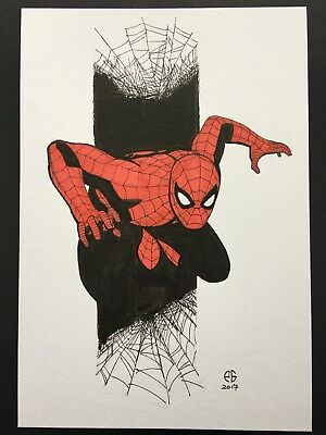 Patrick Goddard Original Comic Art Sketch Spiderman