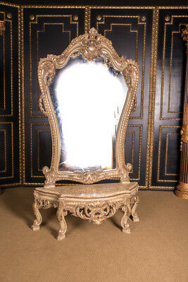 High Quality Elegante Rococo Console Table with Wall Mirror