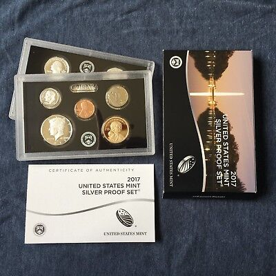 2017-S United States Mint Silver Proof 10 Coin Set w/Box and COA