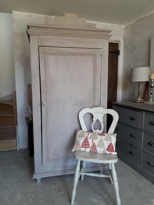 Large pine single painted wardrobe Annie Sloan