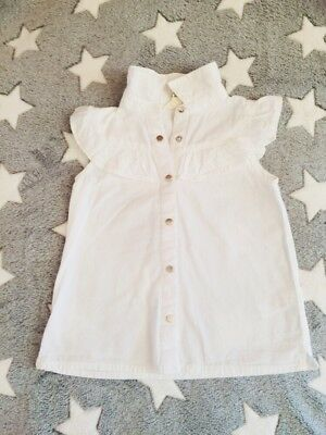 Baby Girl White Summer Spring Top Blouse River Island 9-12 Months