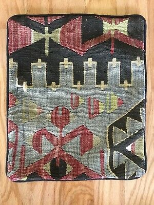 """Turkish Kilim Rug Throw Pillow Cover Cushion Cover Vintage Nomad 16"""" X 13"""""""