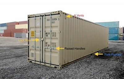 "40ft (8´6 high) New ""One-trip"" shipping container, Jacksonville, Florida"