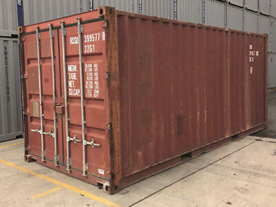 20ft used shipping container in wind & watertight condition, Jacksonville, Fl