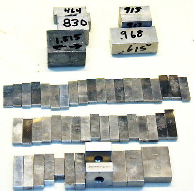 Machinist's Rectangular and Square Gage Blocks Sold as Individual Items