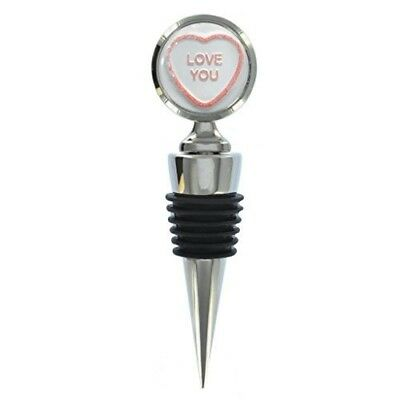 Love You Candy Design Metal Wine Bottle Stopper. 1StopShops. Shipping Included