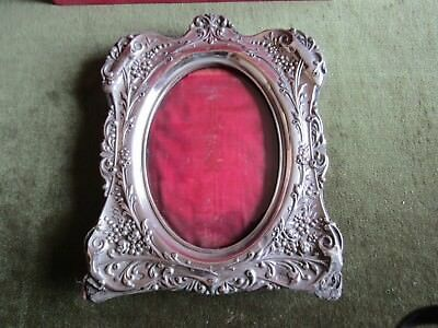 Rare Antique Victorian Sterling Silver Photo Frame Birmingham Mark 1901