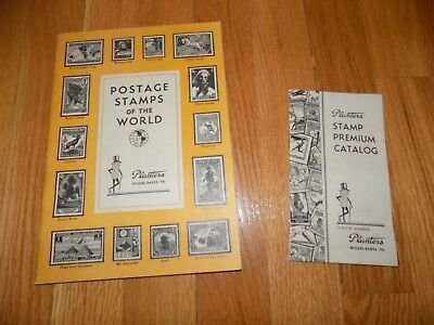 Vtg Planters Peanuts Mr. Peanut Postage Stamps Of The World Book 1940s NOS NR