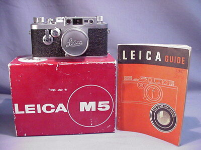 Vintage 35mm Leica M 5 Camera in Box