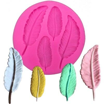 Various Feathers Reusable Silicon / Soap / Fondant Icing / Chocolate Mould