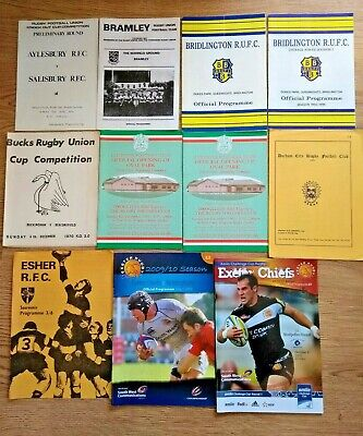 English Club Rugby Union Programmes 1952 - 2011