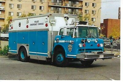 New York City Police Dept Emergency Service Truck 10 4X6 Color Photo ~ Ford