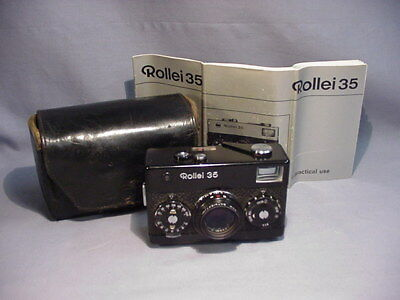 Vintage Rollei 35 Camera w/ Leather Case