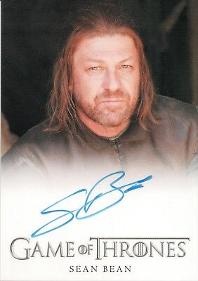 Game of Thrones Series Four, Sean Bean 'Ned Stark' Full Bleed Autograph Card