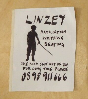 One vinyl sticker by Stot21stcplanb lovely Linsey, humility whipping beating 07