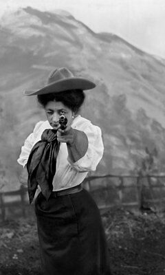 New Art Print Of c.1880 Photo Famous Cowgirl Sharpshooter May Lillie  8 1/2 X11