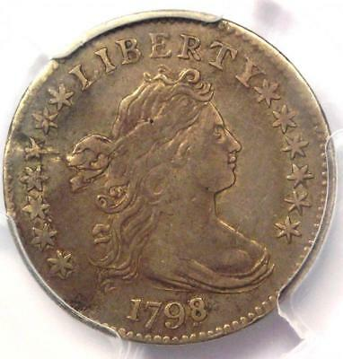 1798/7 Draped Bust Dime 10C (16 Stars Reverse) - PCGS VF Details - Rare Coin!
