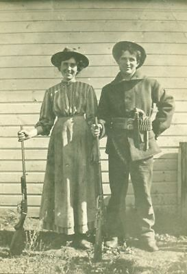 New Art Print Of 1880 Photo Real Cowgirls Armed To The Teeth Wild West  8 1/2X11