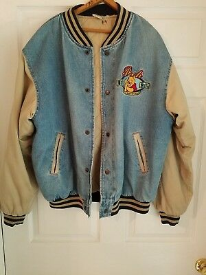 "The Disney ""Winnie The Pooh"" Denim Jacket Embroidered "" No Hood ""No Reserve"""