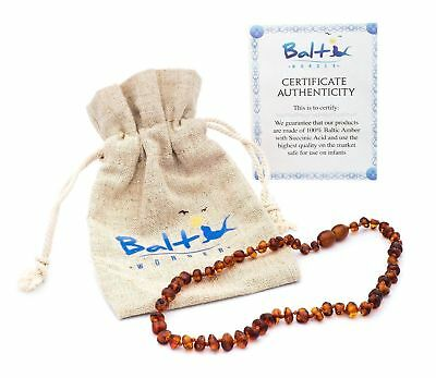New Authentic Balt Wonder Baltic Amber Teething Necklace For Babies