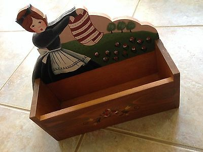 Wooden Hand Painted Hanging Box