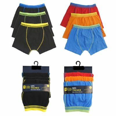 3 Pairs Boys Underwear Boxers Shorts Pants Trunks Briefs Age 2 - 13