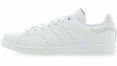 new concept bc6ca 56cae ADIDAS STAN SMITH Triple White premium leather old school retro sneakers new
