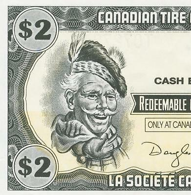 Canadian Tire Money Vintage $ 2  two dollar note
