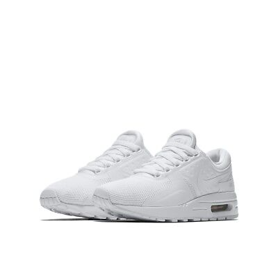 Big Kids' Nike Air Max Zero Essential Running Shoes NEW White, MSRP $100