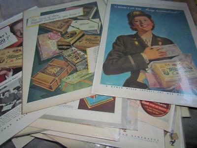 Large Lot of Whitman's Candy Advertising 1920's -1960's