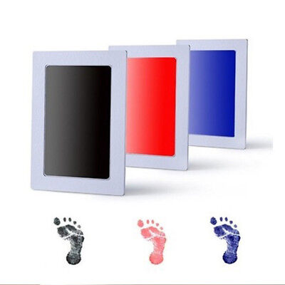 US Baby Newborn Footprint Handprint Ink Pad Safe Frame Non-Toxic Touch New