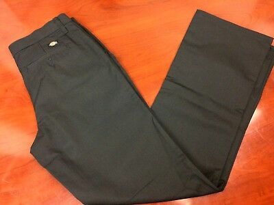 Dickies NEW! Womens Work Pants Uniform Black Straight Leg 3 Pocket Brand New NWT
