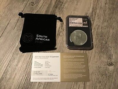 2017 South Africa 50th Anniversary 1 OZ .999 Silver SP70 NGC First Releases