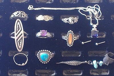 Vintage {STERLING .925 SILVER JEWELRY LOT} 34.1 Grams (SOME SCRAP) Rings + WMCO