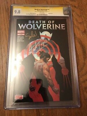 Death Of Wolverine 1 CGC 9.8 SS Herb Trimpe & Charles Soule
