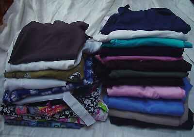 MIXED LOT OF 24 SCRUBS WORK WEAR Size X SMALL 12 tops 12 pants Dentist Vet XS