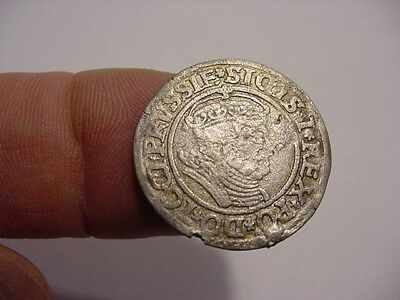 1535   Dutchy of Prussia - Brandenburg -RARE - Silver Groschen - F