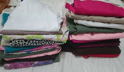 MIXED LOT OF 23 SCRUBS WORK WEAR Size SMALL 13 tops 10 pants Dentist Vet