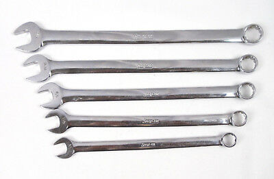 "Snap-on 1/2"" to 3/4"" 5 Pc. 12 Point Long SAE Combination Wrench Set OEXL 1984"
