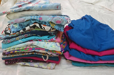 MIXED LOT OF 29 SCRUBS WORK WEAR Size MEDIUM 23 tops 6 pants Dentist Vet