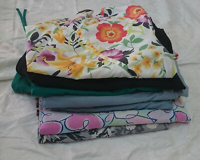 MIXED LOT OF 7 SCRUBS WORK WEAR Size X LARGE 4 tops 3 pants Dentist Vet