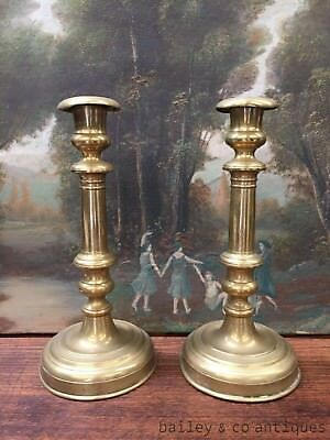 Antique French Candlesticks Pair Chandelle Holders Bougeoirs - DL259
