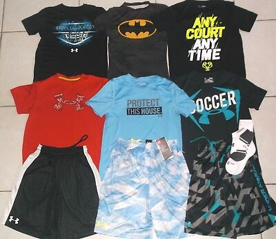 Under Armour Boy's Size Meduim Athletic 11 Piecesummer Lot In Euc And Nwt!