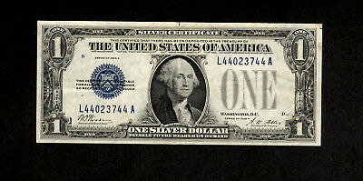 1928 A $1 Silver Certificate Funny Back with Blue Seal
