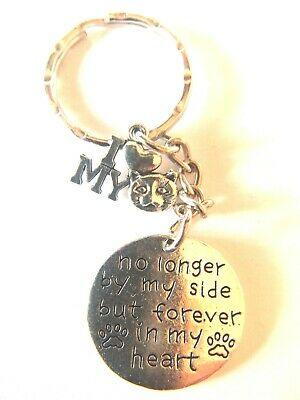 'No Longer By My Side But Forever In My Heart' 'I Love My Cat ' Keyring Pussy