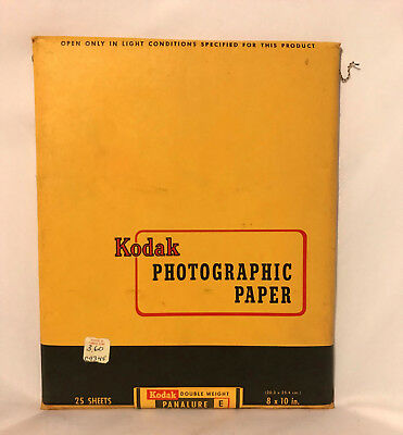 Kodak Photographic Paper Panalure E Double Weight Expired 1959 Vintage